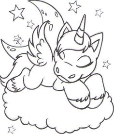 coloring colouring faerie uni sleeping asleep cloud faerieland star stars moon Make your world more colorful with free printable coloring pages from italks. Our free coloring pages for adults and kids. Unicorn Coloring Pages, Cute Coloring Pages, Animal Coloring Pages, Free Printable Coloring Pages, Free Coloring, Adult Coloring Pages, Coloring Pages For Kids, Coloring Sheets, Coloring Books