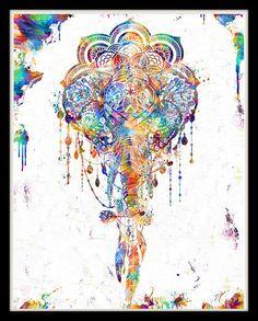 Elephant Girlfriend Gift Wife Gift Geometric by ThestoryoftheFall