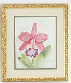 Pink and Purple Flower Framed Wall Art from www.wellappointedhouse.com