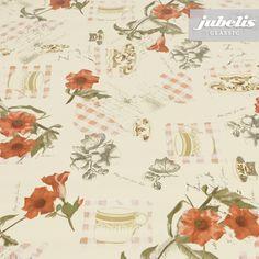 jubelis® Wachstuch pflegeleicht und wetterfest Muster Historia Vintage Stil