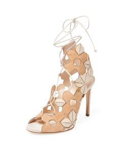Suede Lace-Up Sandal by Casadei at Gilt