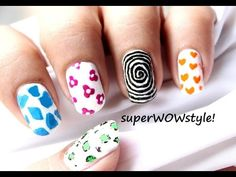 Toothpick Nail Designs ★ Nail Art without Tools ★ No Tools Nail Art Using Toothpick
