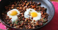 Sweet Potato and Egg Breakfast Hash #breakfast #healthy #recipes