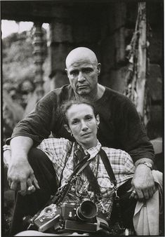 "geneseelibby:    Mary Ellen Mark self-portrait with Marlon Brando during the filming of ""Apocalypse Now"", 1979  via Leica History"