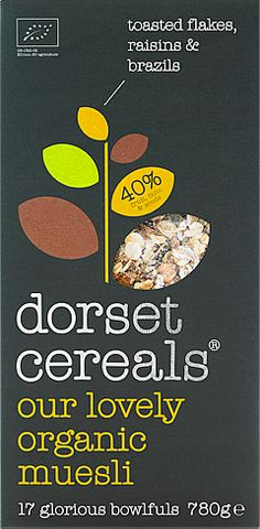 our lovely organic muesli  chunky brazils & pumpkin seeds with tasty flakes, sweet raisins & sultanas – all of it organic