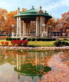 Gazebo in Forest Park - St. Louis, MO  in front of the Muny