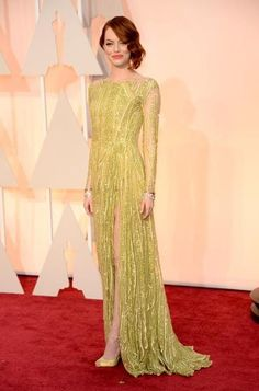 Emma Stone in Elie Saab couture.