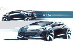 Opel Astra GTC - Design Sketches