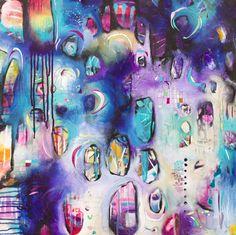 Rainbow Acrylic Painting Inspirational Art OOAK by Belinda Fireman on Etsy (firemanbell)