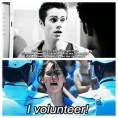 Oh I definitely volunteer!