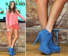 ankle boot azul! demais!