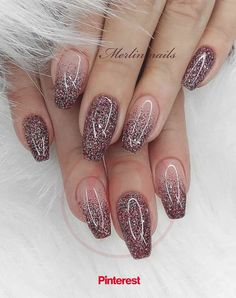 Really Cute Glitter Nail Designs! You Will Love – Page 55 of 57 – Daily Wome… Really Cute Glitter Nail Designs! You Will Love – Page 55 of 57 – Daily Women. Chunky Glitter Nails, Shiny Nails, Metallic Nails, Sparkle Nails, Glitter Nail Art, Acrylic Nails, Coffin Nails, Acrylic Nail Designs Glitter, Glitter French Nails