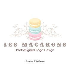 Les Macarons - PreDesigned Logo Design -  Macaron - French Confections Logo Design