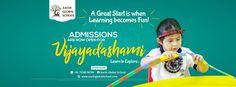 Vijayadashami Admission opened for School Fun, Pre School, School Stuff, Bilboard Design, Cover Pages, Banner, Photoshop, Education, Chennai