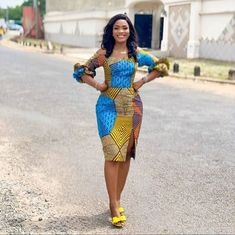 Stylish short Ankara designs for a lady's day out – fashionFetchup Short African Dresses, Latest African Fashion Dresses, African Print Fashion, Africa Fashion, Women's Fashion Dresses, African Fashion Traditional, Traditional Clothes, Ankara Dress Styles, Ankara Gowns