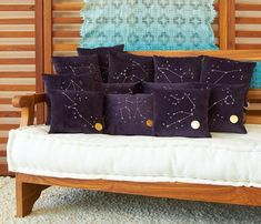 Embroidered Constellation Pillows (via Free People Blog)