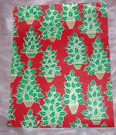 7 REMNANT SHEETS VTG 1950'S XMAS GIFT PACKAGE WRAP WRAPPING PAPER, CRAFTS | eBay