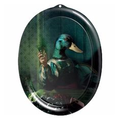 ibride Achille Galerie De Portraits Tray Wall Art: Beautiful artwork for your wall or table from the Ibride Galerie de Portraits collection by French artist Rachel Convers. In theory, a tray - resistant to heat and water and even dishwasher proof - but everyone we know puts their Ibride masterpiece up on their wall. Wall-mounting supplied. Made in France.