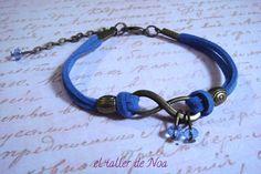 #Pulsera ref. ibi15004 de la colección Infinit Bracelet. #azul dazzling con #infinito perfecto para un outfit casual. Más en www.eltallerdenoa.com Consultas en eltallerdenoa#gmail.com #bisutería #bracelet #jewelry #joyería