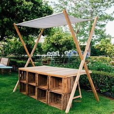 Craft Booth Displays, Store Displays, Cafe Design, Store Design, Camping Furniture, Outdoor Furniture, Tree Shop, Outdoor Living, Outdoor Decor