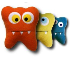 Tooth fairy pillows - pocket in back for your tooth