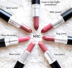 MAC Please Me Brave Faux Twig Mehr Lipstick Swatches