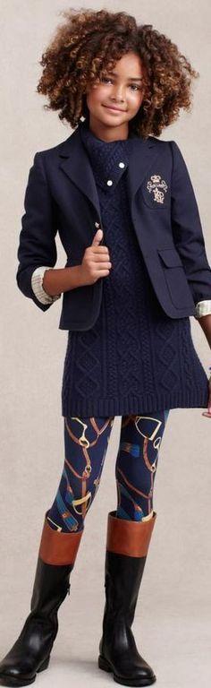 Ralph Lauren moda infantil de invierno