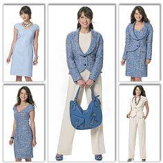 Butterick Pattern Misses' Vest, Jacket, Dress and Pants, AA (6, 8, 10, 12): Crafts : Walmart.com