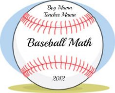 Baseball Math This game is a fun way to practice math facts with your child. Actually, you can practice just about anything using the same game– spelling words, sight words, geography, voca… Math For Kids, Fun Math, Math Activities, Teaching Tips, Teaching Math, Fun Learning, Learning Tools, Addition Flashcards, Basic Math