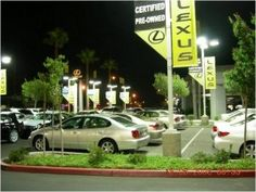 Induction Lighting used at a Car Dealership