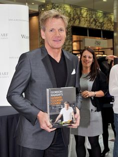 #Celebrity #chef Gordon Ramsay signs copies of his new recipe book 'Gordon Ramsay's Ultimate Cookery Course' at Waterstones, Canary Wharf on September 20, 2012 in London, England.
