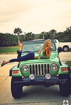 girls first choice jeep wrangler Jeep Wrangler Girl, Jeep Tj, Jeep Wrangler Unlimited, Jeep Truck, Jeep Wranglers, Wrangler Rubicon, Trucks And Girls, Car Girls, Green Jeep