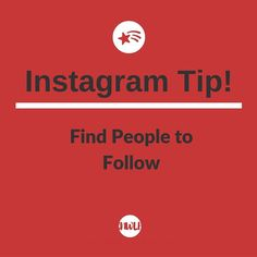 Instagram Tip: Find people to follow.  Now that you have an Instagram account youre ready to find users to follow. By now a lot of your friends are probably already using Instagram so you can go to your profile tab and select Find Friends in the Options setting (the gear icon at the top-right). Here you can search for friends that have connected their Facebook and Twitter accounts to Instagram. You can also search by name username or tag. You can also follow celebrities or people whose…