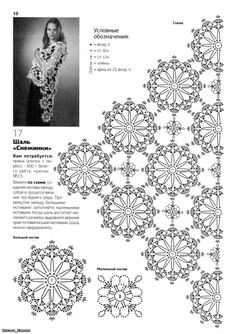 Flower crochet motif for a shawl or a scarf, a doily, a table runner, coasters, curtains, bedspread...   ;-)