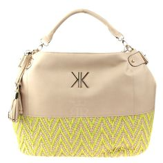 Kardashian Kollection Summer 2013 Weave Hobo Bag - Yellow