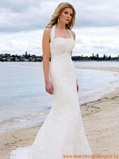 2012 traumhaftes schönes Brautkleid aus Chiffon Bodenlang Herz-Ausschnitt