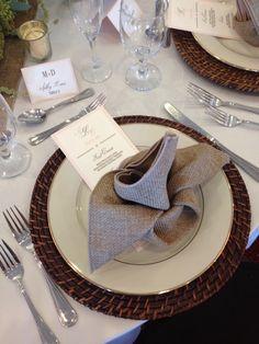 Elegant country wedding stationery