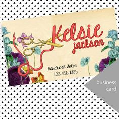 Vintage Hair Stylist Business Card by InviteDesign on Etsy