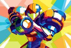 Nintendo-Snes-nes-METROID-poster-WPAP-POP-Art-on-Canvas