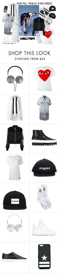 """""""Young, Wild and Free"""" by tessabit ❤ liked on Polyvore featuring Frends, Comme des Garçons, Marques'Almeida, R13, Off-White, Givenchy, LES (ART)ISTS, Marcelo Burlon, Puma and STELLA McCARTNEY"""