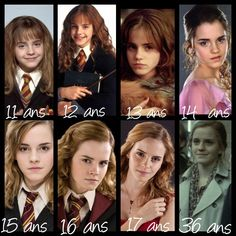 Hermione throughout the Harry Potter films Harry Potter Tumblr, Harry Potter Hermione, Harry Potter World, Hermione Granger, Harry Potter Anime, Ginny Weasley, Images Harry Potter, Estilo Harry Potter, Mundo Harry Potter