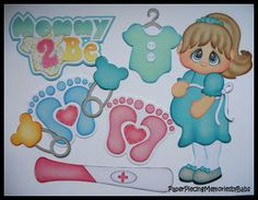 Premade Paper Pieced Mommy 2 Be Set for Scrapbook Pages-by Babs Birthday Scrapbook, Baby Scrapbook, Scrapbook Cards, Pregnancy Scrapbook, Baby Shower Niño, Craft Images, Baby Clip Art, Baby Mickey, Paper Piecing Patterns