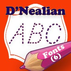 D'Nealian Style Family Fonts With this collection of 6 D'Nealian style family fonts, specially designed for teachers.