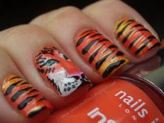 Cute but too much detail for me! >>bengals nails | NFL Nail Art?!
