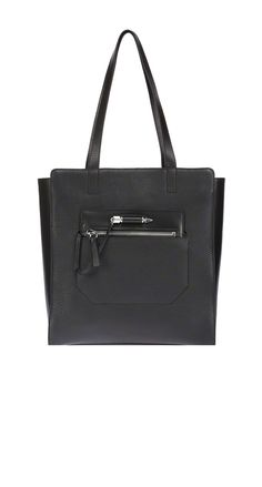 Mackage - CATHRYN BLACK LARGE LEATHER TOTE BAG. www.mackage.com #luxuryhandbags #leather #womenswear #fw14 #mackage