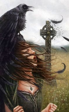 Ravens figure heavily in Celtic mythology and legend. They were linked to darkness and death – especially the death of warriors in battle. Celtic war goddesses often took the form of a raven.
