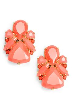 Will wear these coral & red statement studs every day!
