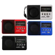 Mini Portable FM Radio Speaker With TF Card Slot Sports Rechargeable MP3 Music Player3