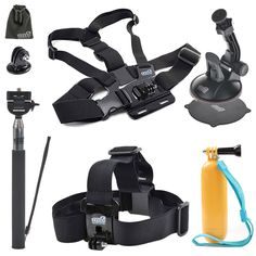 "EEEKit Starter Kit for VTech Kidizoom, Vikeepro 2.0"" Waterproof Sports Camera, Head Strap/Floaty Grip Handle Pole/Chest Harness/Car Suction Cup/Selfie. The Starter Kit covers your most esssential needs for your Vikeepro 2.0 Inch 170 Degree Ultra-wide Angle Lens Full HD 1080p Waterproof Sports Diving Camera in daily use. Compatible with GBB Big Eye HD Video Sports Action Camera. Chest Mount Harness helps your camera to have a shooting and recording steadily on the chest. Used in bicycle…"
