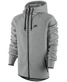 Nike Tech Fleece Windrunner (m) Heather Grey - Unisex Clothing Nike Windrunner, Windrunner Jacket, Nike Tech Fleece Windrunner, Hoodie Sweatshirts, Nike Hoodie, Nike Outfits, Nike Gear, Mens Activewear, Cool Hoodies